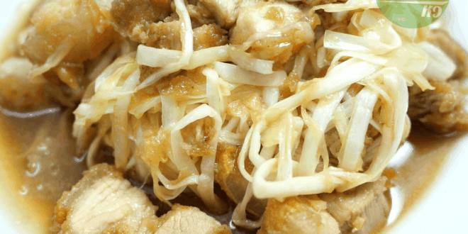 กุยช่ายขาวผัดหมูกรอบ
