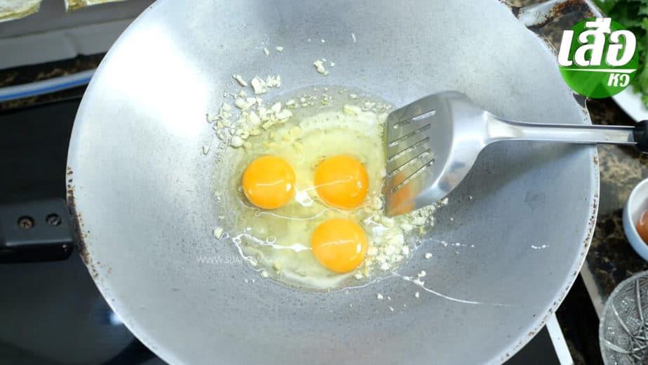 สูตรผัดวุ้นเส้นใส่ไข่